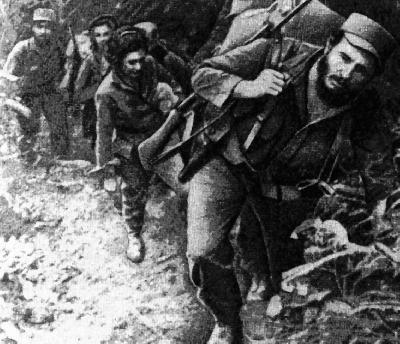 Fidel sale de la Plata