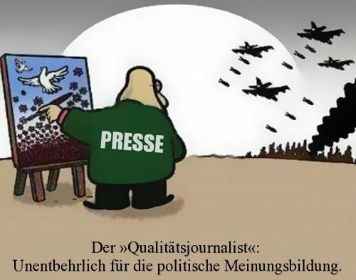 Karikatur Qualitätsjournalismus