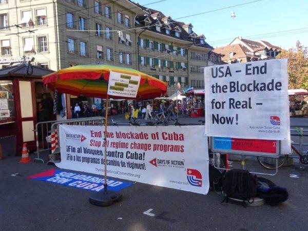 Mahnwache gegen die US-Blockade